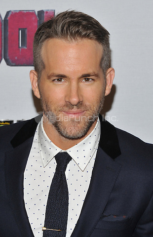 New York,NY-FEBRUARY 08: Ryan Reynolds at the 'Deadpool' fan event at AMC Empire Theatre on February 8, 2016 in New York City. Credit: John Palmer/MediaPunch