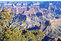 A view of rock formations at Grand Canyon, Arizona from the Grand View Point, in South rim.