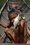 Child from Iban tribe in Borneo