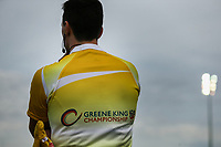General view of a match official during the Greene King IPA Championship match between London Scottish Football Club and Hartpury RFC at Richmond Athletic Ground, Richmond, United Kingdom on 28 October 2017. Photo by David Horn.