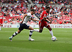 Cyrus Christie of Middlesbrough in action with Ben Davies of Preston North End  during the Sky Bet Championship match at the Riverside Stadium, Middlesbrough. Picture date: August 26th 2017. Picture credit should read: Jamie Tyerman/Sportimage