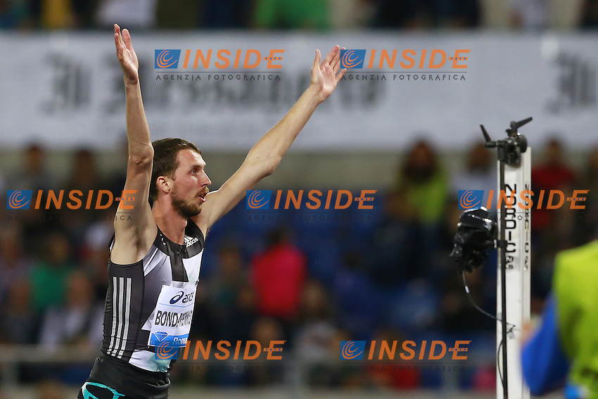 Bohdan Bondarenko UKR Winner High Jump Men  <br /> Roma 02-06-2016 Stadio Olimpico.<br /> IAAF Diamond League 2016<br /> Atletica Legera <br /> Golden Gala Meeting - Track and Field Athletics Meeting<br /> Foto Cesare Purini / Insidefoto
