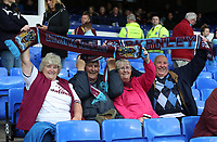 Burnley Fans at the start of todays match<br /> <br /> Photographer Rachel Holborn/CameraSport<br /> <br /> The Premier League - Everton v Burnley - Sunday 1st October 2017 - Goodison Park - Liverpool<br /> <br /> World Copyright &copy; 2017 CameraSport. All rights reserved. 43 Linden Ave. Countesthorpe. Leicester. England. LE8 5PG - Tel: +44 (0) 116 277 4147 - admin@camerasport.com - www.camerasport.com