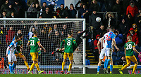 Preston North End's Declan Rudd makes a save in the closing stages<br /> <br /> Photographer Alex Dodd/CameraSport<br /> <br /> The EFL Sky Bet Championship - Blackburn Rovers v Preston North End - Saturday 11th January 2020 - Ewood Park - Blackburn<br /> <br /> World Copyright © 2020 CameraSport. All rights reserved. 43 Linden Ave. Countesthorpe. Leicester. England. LE8 5PG - Tel: +44 (0) 116 277 4147 - admin@camerasport.com - www.camerasport.com