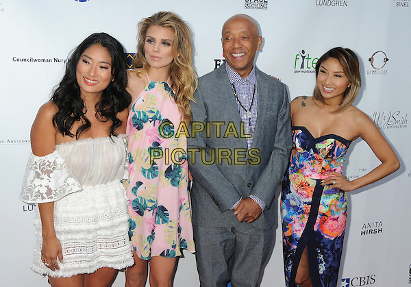 21 May 2015 - Los Angeles, California - Chloe Flower, AnnaLynne McCord, Russell Simmons, Jeannie Mai. 17th Annual CAST From Slavery to Freedom Gala held at The Skirball Center.  <br /> CAP/ADM/BP<br /> &copy;Byron Purvis/AdMedia/Capital Pictures