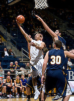 Justin Cobbs of California shoots the ball during the game against San Diego at Haas Pavilion in Berkeley, California on November 1st, 2011.  California defeated San Diego, 88-53.