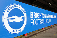 Brighton & Hove signage ahead of Brighton & Hove Albion Women vs Manchester United Women, SSE Women's FA Cup Football at Broadfield Stadium on 3rd February 2019