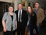 Maura and Bernard Drumm and Helen and Tim Shortall pictured at Shirley Ryan's 50th birthday in the Glenside hotel. Photo: Colin Bell/pressphotos.ie