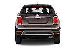 Straight rear view of 2017 Fiat 500X Trekking 5 Door SUV Rear View  stock images