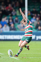 George Ford of Leicester Tigers takes a penalty kick during the LV= Cup Final match between Leicester Tigers and Northampton Saints at Sixways Stadium, Worcester on Sunday 18 March 2012 (Photo by Rob Munro, Fotosports International)