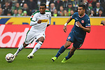 04.11.2018, Borussia Park , Moenchengladbach, GER, 1. FBL,  Borussia Moenchengladbach vs. Fortuna Duesseldorf,<br />  <br /> DFL regulations prohibit any use of photographs as image sequences and/or quasi-video<br /> <br /> im Bild / picture shows: <br /> Alassane Pl&eacute;a (Gladbach #14), im Zweikampf gegen  Alfredo Morales (Fortuna Duesseldorf #6),   <br /> <br /> Foto &copy; nordphoto / Meuter