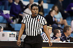02 January 2014: Referee Angela Lewis. The University of North Carolina Tar Heels played the James Madison University Dukes in an NCAA Division I women's basketball game at Carmichael Arena in Chapel Hill, North Carolina.