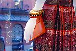 Handbag and dress detail shown at the Catherine Martin and Muccia Prada Dress Gatsby display at Prada store in SOHO, NYC May 4, 2013.