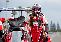 Feb 9, 2020; Pomona, CA, USA; NHRA top fuel driver Doug Kalitta during the Winternationals at Auto Club Raceway at Pomona. Mandatory Credit: Mark J. Rebilas-USA TODAY Sports