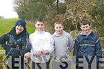 enjoying their orienteering trip at Ballyseedy woods on Thursday were l-r: Danny O' Connor, Oisin Shanahan, Chris Irwin and CJ Doyle all CBS The Green students..