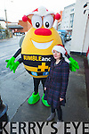 Helen Kelly from The Saoirse Foundation with the Bumbleance Bee, announcing details of the Santa Dash Kerry on Inch Beach on Sunday December 21st at 12noon. Helen Kelly from The Saoirse Foundation with the BUMBLEance Bee, announcing details of the Santa Dash Kerry on Inch Beach on Sunday December 21st at 12noon.