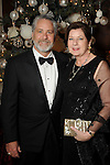 Co-chair Sharon Schwartz and her husband Mark at the 27th annual Trees of Hope Holiday Gala at The Citadel on Kirby Friday Oct. 04,2016.(Dave Rossman photo)