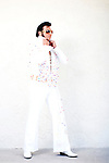 Maurice Sheps, an Elvis tribute artist based out of Ft. Lauderdale, poses for portraits outside of the Masters Inn in Tampa February 14, 2010. Maurice is competing in the Elvis Extravaganza Nationals contest at the Florida State Fair.