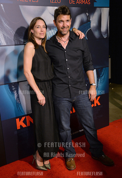 Actress Claire Forlani husband actor Dougray Scott at the Los Angeles premiere of  &quot;Knock Knock&quot; at the TCL Chinese Theatre, Hollywood.<br /> October 7, 2015  Los Angeles, CA<br /> Picture: Paul Smith / Featureflash