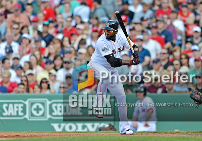 9 June 2012: Boston Red Sox designated hitter David Ortiz in action against the visiting Washington Nationals at Fenway Park in Boston, MA. The Nationals defeated the Red Sox 4-2 in the second game of their 3-game series. Mandatory Credit: Ed Wolfstein Photo