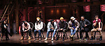 "Gabrielle Sorrentino, Giuseppe Bausitio, Lauren Boyd, Deon'te Goodman, Terrance Spencer, Anthony Lee Medina, Jimmie ""JJ"" Jeter and Thayne Jasperson during the eduHAM Q & A before The Rockefeller Foundation and The Gilder Lehrman Institute of American History sponsored High School student #EduHam matinee performance of ""Hamilton"" at the Richard Rodgers Theatre on November 13, 2019 in New York City."