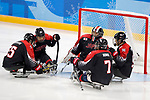 Japan team group (JPN), <br /> MARCH 13, 2018 - Para Ice Hockey : <br /> Qualification round between Czech Republic 3-0 Japan <br /> at Gangneung Hockey Centre during the PyeongChang 2018 Paralympics Winter Games in Pyeongchang, South Korea. <br /> (Photo by Yusuke Nakanishi/AFLO)