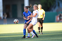 Seattle, WA - Friday June 23, 2017: Christine Nairn, Brittany Ratcliffe during a regular season National Women's Soccer League  (NWSL) match between the Seattle Reign FC and FC Kansas City at Memorial Stadium.