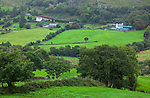 County Kerry, Ireland: Green pastures and farms from Druid's Overlook