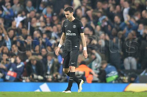 12.04.2016. manchester, England. UEFA Champions league, quarterfinals, second leg. Manchester City versus Paris St Germain.  JAVIER PASTORE (psg)  dejected