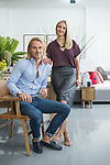 Living By Design, Bec and Tim at the Kensington road store.