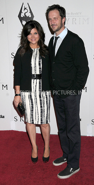 WWW.ACEPIXS.COM . . . . .  ..... . . . . US SALES ONLY . . . . .....November 8 2011, LA....Tiffani Thiessen and Brady Smith arriving at the Skyrim video game launch held at the Belasco Theater on November 8 2011 in Los Angeles....Please byline: FAMOUS-ACE PICTURES... . . . .  ....Ace Pictures, Inc:  ..Tel: (212) 243-8787..e-mail: info@acepixs.com..web: http://www.acepixs.com