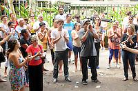 RIO DE JANEIRO, RJ, 04 DE MARCO DE 2013 - DESOCUPAÇÃO DO HORTO FLORESTAL JARDIM BOTANICO- O ministério público Federal decidiu nesta tarde construir 4 casas para moradores que vivem no horto florestal no Jardim botânico Zona Sul do Rio, mas a juiza Maria Melha não aceitou a decisão da justiça. Na vila existem famílias de quatro gerações, muitos idosos mulheres e crianças. SANDROVOX/BRAZIL PHOTO PRESS