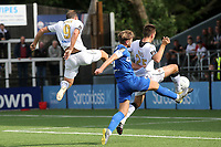 Michael Cheek (No 9) scores Bromley's opening goal during Bromley vs Chesterfield, Vanarama National League Football at the H2T Group Stadium on 7th September 2019