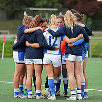 20190928 - Neder Over Hembeek, BELGIUM :  AAC Amsterdam's players are pictured before the female rugby match between the Dendermonde RC Women  and AAC Amsterdam Rugby Women, this is the final of the BeNeCup  on Saturday 28th September 2019 at the Nelson Mandela Stadium , Belgium. PHOTO SPORTPIX.BE | SEVIL OKTEM