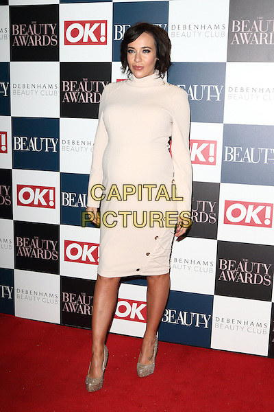 Stephanie Davis at The Beauty Awards with OK! and Debenhams Beauty Club at Banqueting House, Whitehall, London on November 24th 2016<br /> CAP/JIL<br /> &copy; Jill Mayhew/Capital Pictures