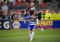 21 November 2010: Colorado Rapids forward Conor Casey #9 and FC Dallas defender Zach Loyd #19 in action during the 2010 MLS CUP between the Colorado Rapids and FC Dallas at BMO Field in Toronto, Ontario Canada..The Colorado Rapids won 2-1 in extra time....