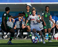 GRENOBLE, FRANCE - JUNE 22: Svenja Huth #9 dribbles at midfield during a game between Panama and Guyana at Stade des Alpes on June 22, 2019 in Grenoble, France.