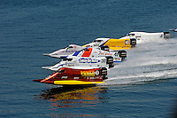 START: Bill Rucker (#3), Glyn Mathews (#36), Kevin Ladd (#41), Lee Daniel (#2), Kris Shepard (#46), Howie Nichols (#4).Champ Boat Series Grand Prix of Augusta, Augusta, GA USA  May, 2007 ©F. Peirce Williams 2007  SST-120/F2..F. Peirce Williams .photography.P.O.Box 455 Eaton, OH 45320 USA.p: 317.358.7326  e: fpwp@mac.com..