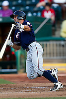 Nick Francis (3) of the Northwest Arkansas Naturals drops his bat during a game against the Springfield Cardinals at Hammons Field on August 1, 2011 in Springfield, Missouri. Springfield defeated Northwest Arkansas 7-1. (David Welker / Four Seam Images)
