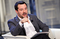 Matteo Salvini <br /> Rome January 31st 2019. The Italian Minister of Internal Affairs appears as a guest on the tv show Porta a Porta<br /> Foto Samantha Zucchi Insidefoto