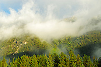 Cinnamon Peak in morning fog<br /> Mt. Robson Provincial Park<br /> British Columbia<br /> Canada