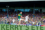 Jack Barry Kerry has a shot at goal against Kildare during the GAA Football All-Ireland Senior Championship Quarter-Final Group 1 Phase 3 match between Kerry and Kildare at Fitzgerald Stadium in Killarney, on Saturday evening.