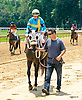 Miss Modela with Erin Rodjare aboard after The International Ladies Fegentri race at Delaware Park on 6/13/17