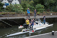 Maidenhead, Berkshire.   &quot;The Great Thames Row&quot;.  TGTR 2016.  Lechlade to Gravesend, [165 Miles]. UK Charity Row on the River Thames by Naomi RICHES, MBE. passing through, Boulters Lock. Maidenhead. Sunday  18/09/2016<br /> [Mandatory Credit; Peter SPURRIER/Intersport Images]