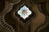 stained-glass cupola in the roof of the Applied Arts Museum, Budapest.