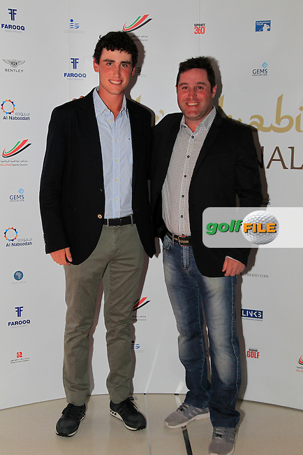 Renato Parratore and Marco Crespi during the 2015 Abu Dhabi Invitational Gala Evening held at The Viceroy Hotel, Yas Island, Abu Dhabi.: Picture Eoin Clarke, www.golffile.ie: 1/25/2015