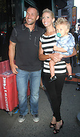 NEW YORK, NY - AUGUST 13, 2012:  Chris Powell, with his wife Heidi Powell and son William Cash at Good Morning America to talk about Extreme Makeover:Weight Loss Edition in New York City  :© RW/MediaPunch Inc.