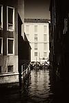 Canal scene in the Dorsoduro section of Venice.