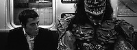 Halloween on the subway. Subway series shot in New York between the years 1998 and 2001
