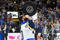 June 12, 2019: St. Louis Blues center Ryan O'Reilly (90) kisses the Stanley Cup at game 7 of the NHL Stanley Cup Finals between the St Louis Blues and the Boston Bruins held at TD Garden, in Boston, Mass. The Saint Louis Blues defeat the Boston Bruins 4-1 in game 7 to win the 2019 Stanley Cup Championship.  Eric Canha/CSM